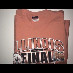 Tops - Orange Illinois Cropped-ish Tee